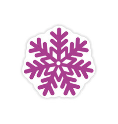 Paper sticker on white background christmas vector