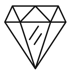 Perfection gemstone icon outline style vector