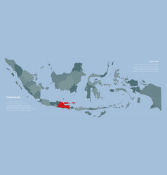 Province east java and country map vector