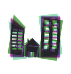 real estate sign colorful icon shaked vector image