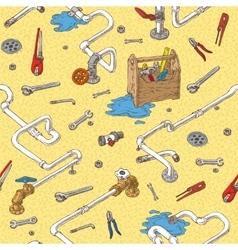 Sanitary Engineering Seamless Pattern vector
