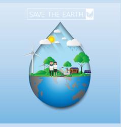 Save earth vector
