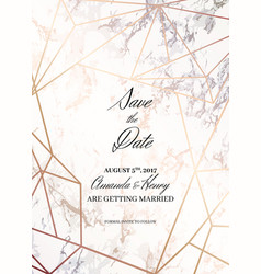 Save the date design template for getting married vector