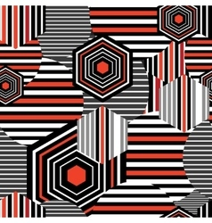 Seamless bright geometric pattern vector