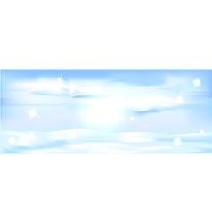 snowy winter landscape banner - horizontal vector image