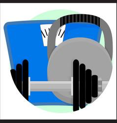 Sport app icon vector