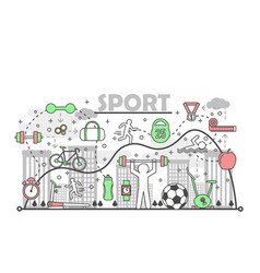 sport concept in flat linear vector image