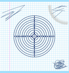 target sport for shooting competition line sketch vector image