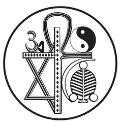 universal religions symbol vector image