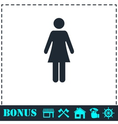 Woman icon flat vector image
