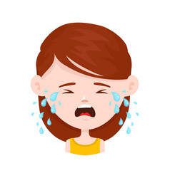 women young girl crying flat vector image