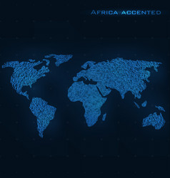 world abstract map africa accented vector image