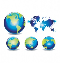 World map globes vector