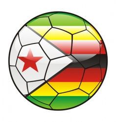 zimbabwe flag on soccer ball vector image