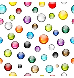 Glossy balls seamless pattern for your design vector image