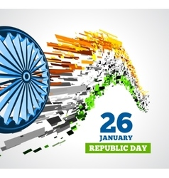 Indian Republic Day background with flag vector image