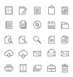 Set of Outline stroke document icon vector image vector image