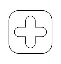 symbol pluss button isolated icon design vector image