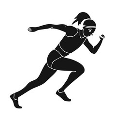 the girl is engaged in athleticsthe actives in vector image vector image