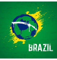 Brazil football background vector image vector image