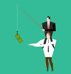 business motivation boss sitting on shoulders of vector image vector image