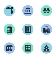 set of simple architecture vector image vector image