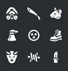 set of stalker icons vector image