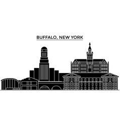 usa buffalo new york architecture city vector image