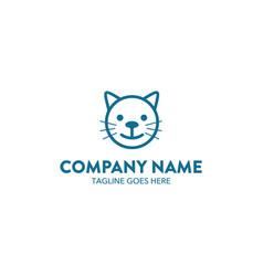cat logo-7 vector image vector image