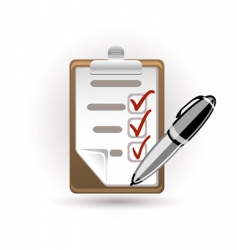 Pen and note vector
