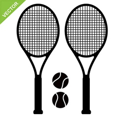 Tennis racket silhouettes vector image vector image