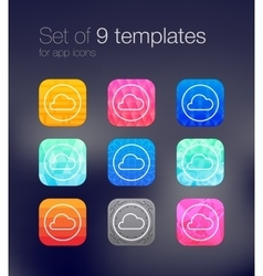 App icon backgrounds vector image vector image