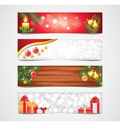 banners christmas vector image