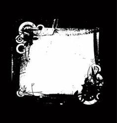 grunge frame floral vector image vector image