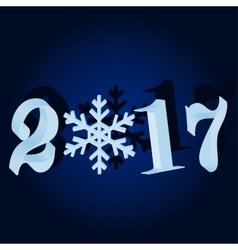 New 2017 Blue Christmas background vector image