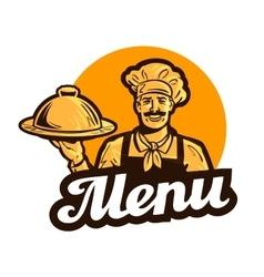 restaurant cafe logo menu dish food or vector image vector image
