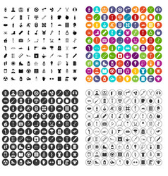 100 health condition icons set variant vector