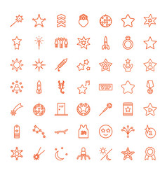 49 star icons vector image