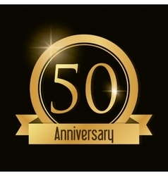 50 Year Celebrating Anniversary graphic vector