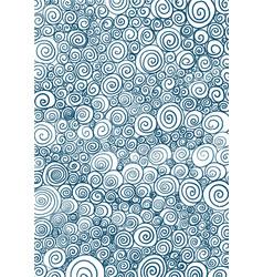 Abstract indigo blue spiral line background vector