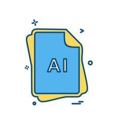 ai file type icon design vector image