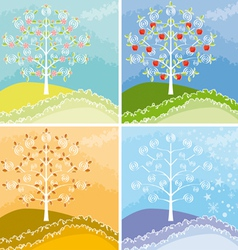 Appletree graphic vector