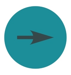 Arrow Axis X flat soft blue colors round button vector