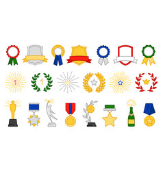 award and prize icons vector image