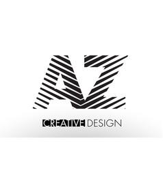 Az a z lines letter design with creative elegant vector