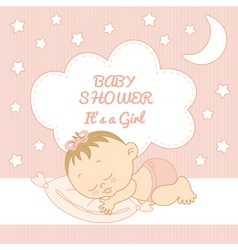 Baby Shower It is a girl vector