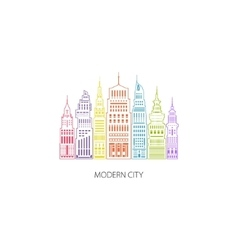 Big City Emblem Linear Style vector image