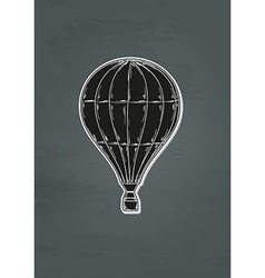 black balloon vector image