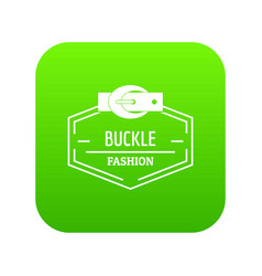 Buckle connect icon green vector
