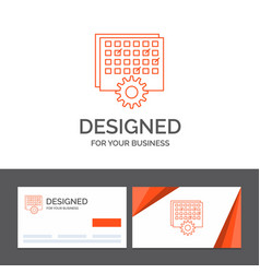 Business logo template for event management vector